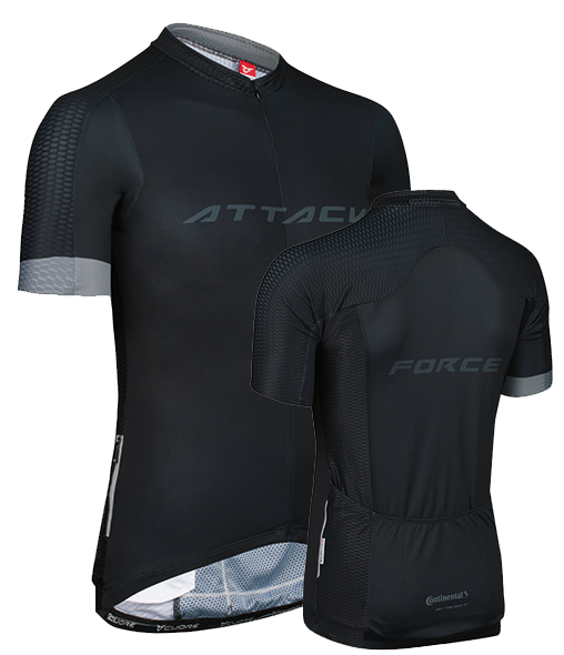 Attack Jersey Trikot black front 4c