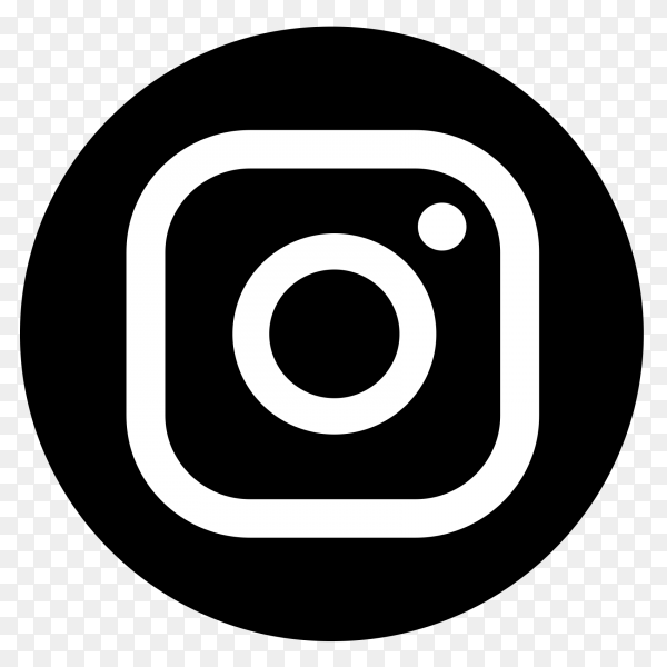 Instagram black and white logo vector png 5